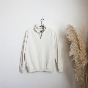 Tommy Bahama vintage white 1/2 zip dad sweater